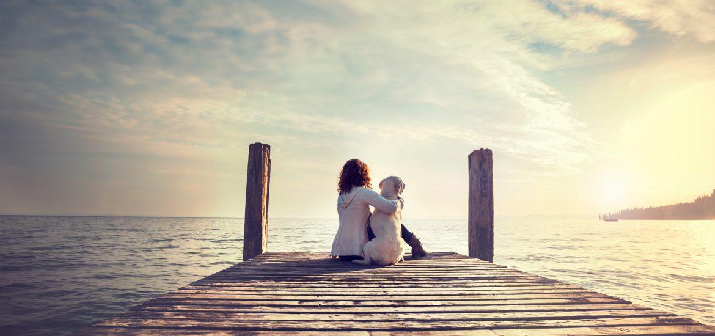 Hund und Frau